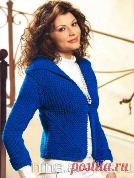 Оригинальный вязаный жакет - новая модель для женщин