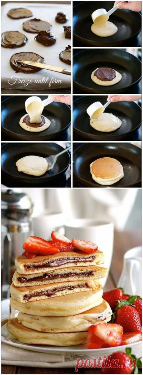 Nutella Stuffed Pancakes | cooking tips