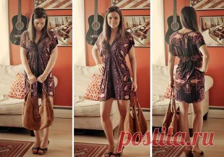 Платье-туника из палантина без выкройки за 20 минут: мастер-класс + видео — Мастер-классы на BurdaStyle.ru