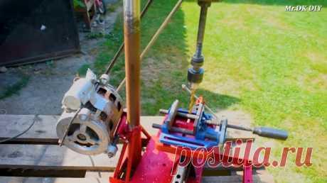 Сверлильный станок из двигателя от стиралки и ручной дрели