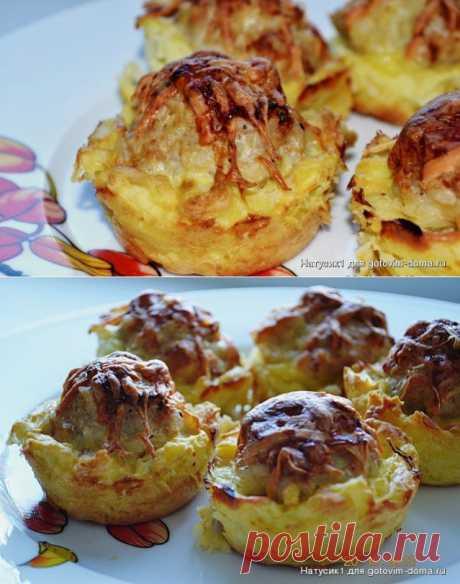 Куриные тефтельки в картофельных корзиночках • Блюда из фарша