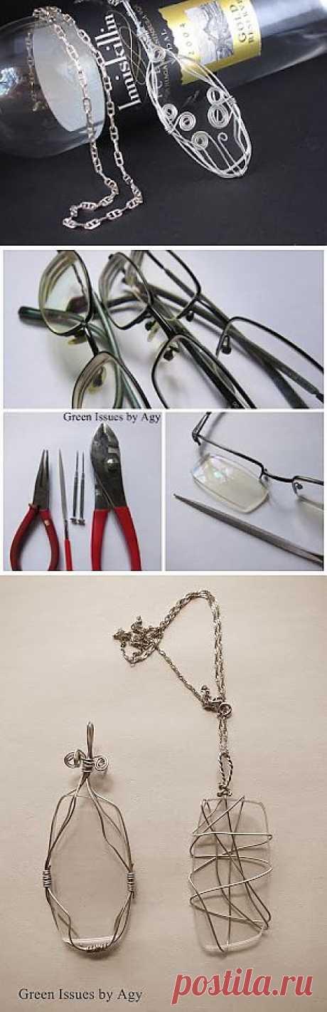 Не выбрасывайте сломанные очки (мастер-класс) / Декор очков /