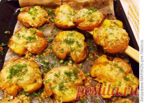 Мятый картофель, запеченный в духовке   Офигенная