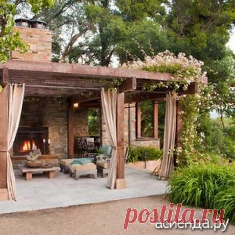 Садовая гостиная - садовые постройки, гостиная в саду, дизайн