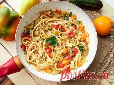 👌 Очень вкусный ужин для всей семьи за 20 минут фетучини с помидорами, рецепты с фото Фетучини с помидорами – это замечательное летнее блюдо, которое готовится легко, а получается очень вкусным. Для его приготовления нужны самые обычные продукты – сезонные овощи, ко...