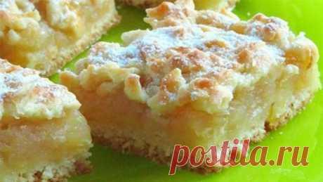 Домашний пирог с сочной, лимонно-яблочной начинкой. Идеальная выпечка!