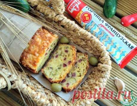 Закусочный кекс с колбасками и оливками – кулинарный рецепт