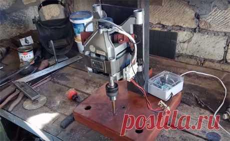 Сверлильный станок из двигателя от стиральной машины: фото, описание, видео
