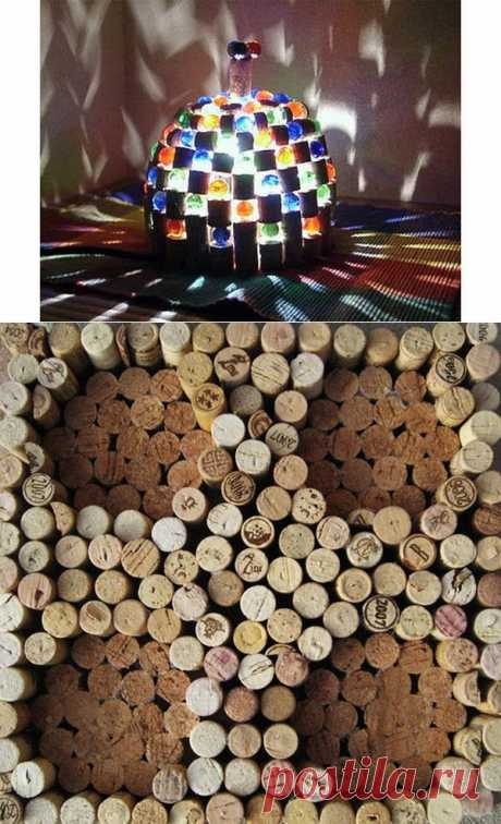 Классный креатив из винных пробок (67 Фото) » Триникси