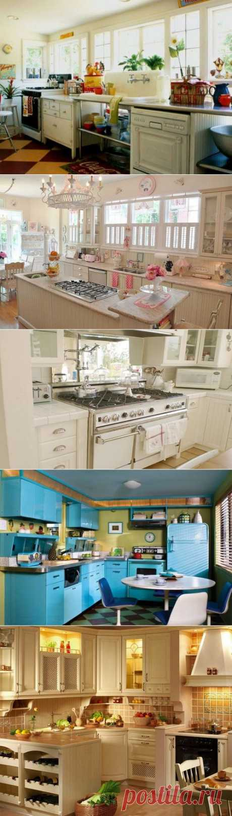 Кухня в стиле ретро – душевное спокойствие и равновесие | ПРАВИЛЬНО выбираем бытовую технику