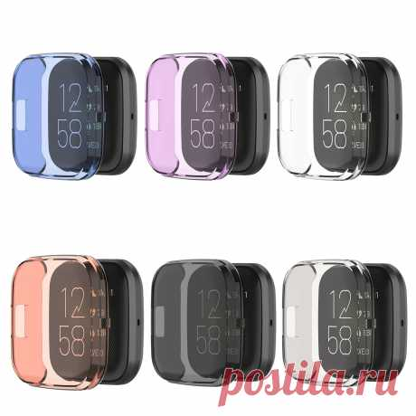 Bakeey Multi-color Transparent Soft TPU Rubber All-inclusive Watch Protector Cas - US$4.99
