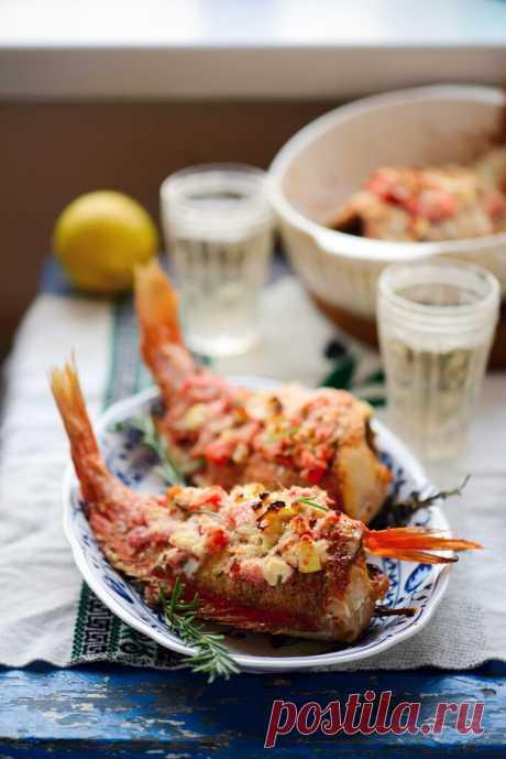 Морской окунь по-гречески – Кулинарный Блог