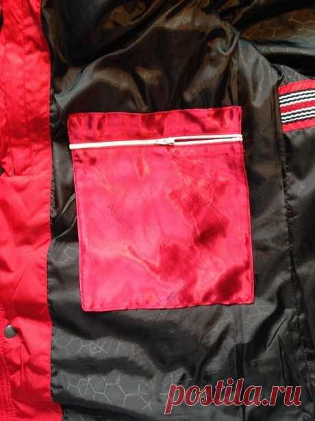 Как сшить и пришить внутренний карман к готовой куртке — Мастер-классы на BurdaStyle.ru
