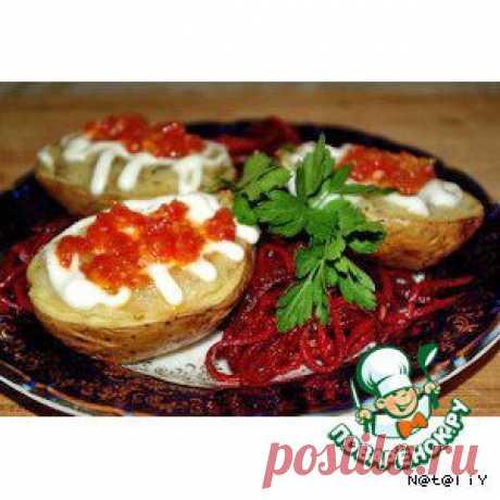 Печеный картофель фаршированый грибами - кулинарный рецепт