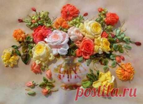розы- французский узелок