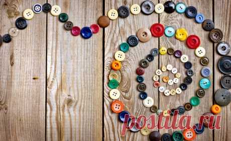 10 идей для рукоделия из пуговиц