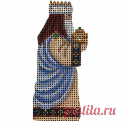 Small Nativity – Blue Magi Adorable high-quality Small Nativity - Blue Magi. The Needlepointer is a full-service shop specializing in hand-painted canvases, thread fibers, needlepoint books, accessories, needlepoint classes and much more.