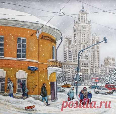 Улочки старой Москвы в акварелях Алёны Дергилёвой (Alena Dergiliova)
