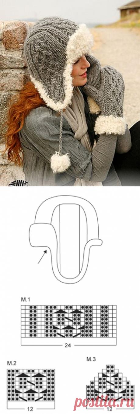 Шапочка-ушанка и рукавицы из Drops! - 23 Декабря 2011 - Блог - Вязаные вещи на заказ