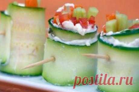 Вегетарианские овощные роллы со сливочным сыром, рецепт — Вкусо.ру