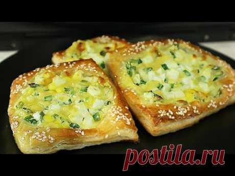 Слоёное тесто - 5 Супер рецептов. Слойки на закуску или перекус.