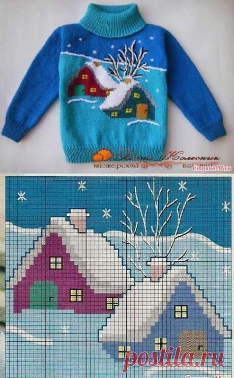 Вязание. Детский пуловер