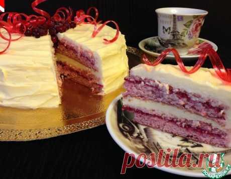 Клюквенный торт с белым шоколадом – кулинарный рецепт