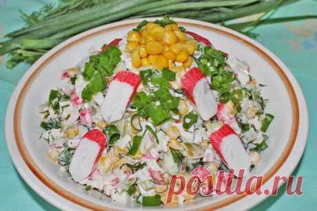 Салат Мозаика с крабовыми палочками рецепт с фото пошагово - 1000.menu