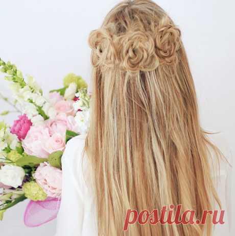 Как делать розы из волос пошаговая инструкция