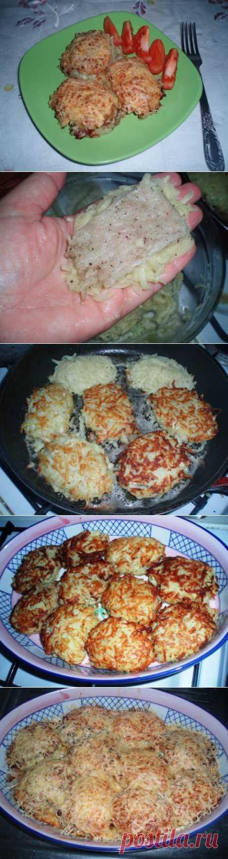 Мясо в шубе из картофеля. | 4vkusa.ru