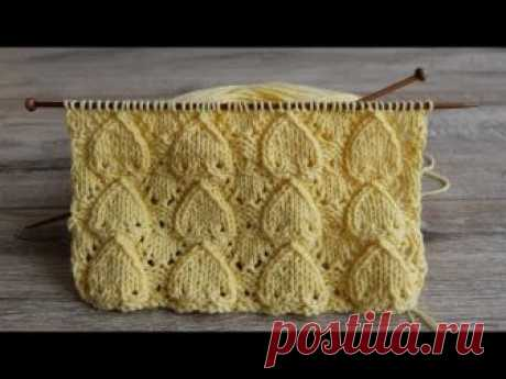 Узор «Сердечки» спицами   «Hearts» knitting pattern   Desen «Kalpler» örgü
