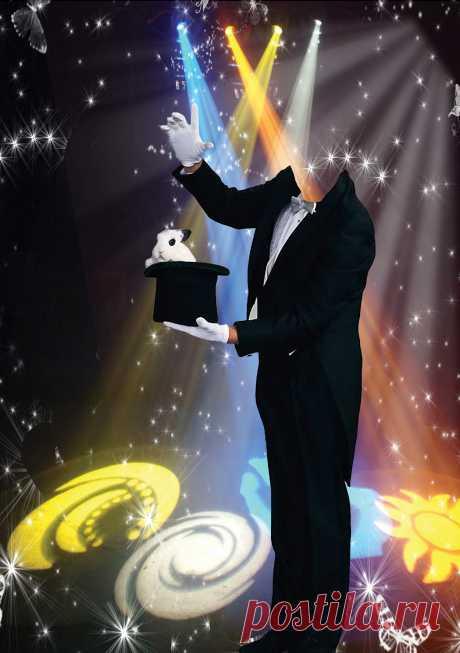 иллюзионист - мужской фотомонтаж распакованный png