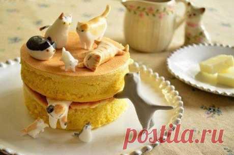 Идея для тортика 😃 Как вам такая идея с котиками? ☺
