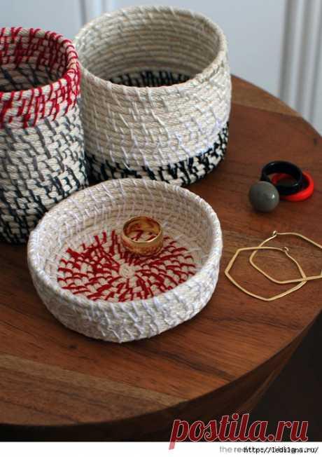 Как сделать корзинку из верёвок