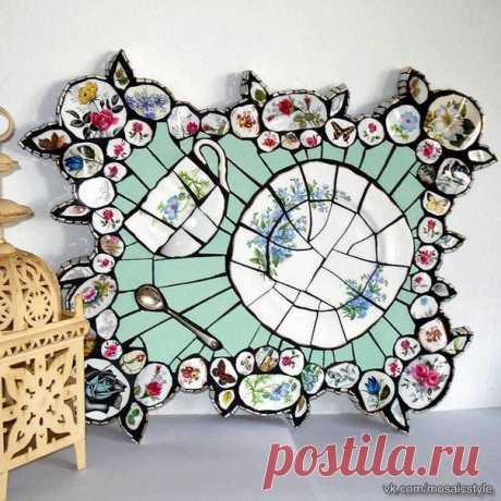 Мозаика из битой посуды (трафик) Модная одежда и дизайн интерьера своими руками