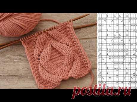 Центральный узор ромбов спицами 🖐🏻 Central diamond pattern knitting 💎