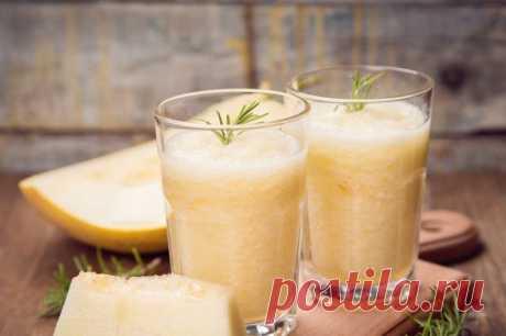 Дынный смузи с апельсином, имбирем и медом — Sloosh – кулинарные рецепты