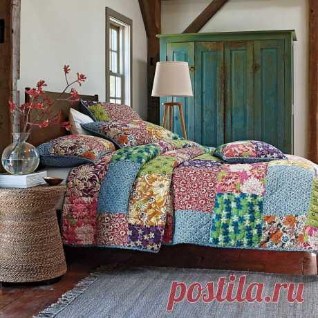 Дизайн спален в стиле пэчворк (37 фото)