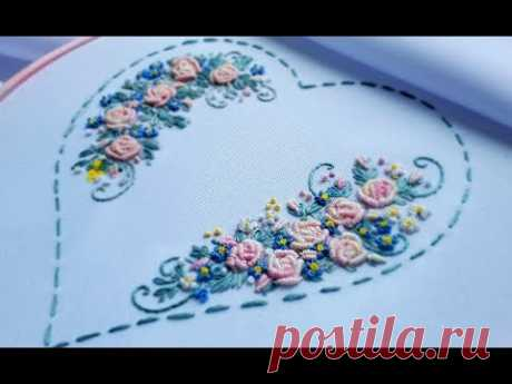 Hand Embroidery: Bullion Knot Stitch\ ВЫШИВКА: РОЗЫ РОКОКО