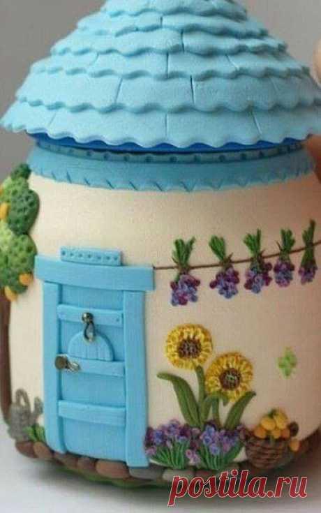 Сказочные домики из полимерной глины :) Идеи для вдохновения