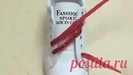 Несколько способов шнуровки Несколько способов шнуровки #назаметку