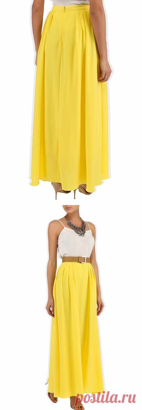 Желтая, как солнышко! Хочу! Яркая, сочная юбка на талии в пол насыщенно-желтого цвета от Camelot - безусловная находка для гардероба!  Купить за 1 790 рублей!