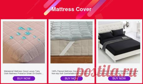 Водонепроницаемый чехол для матраса, роскошная махровая ткань, защитный лист для матраса на эластичной кровати, размер Twin/Full/Queen/King/CalKing Наматрасники и зажимы для простыней    АлиЭкспресс