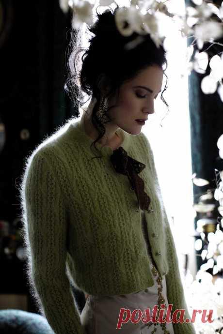 Вязание кардигана Audrey, Angora Haze