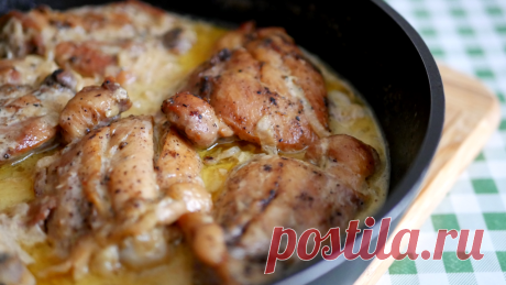 Курица по-кабардински Предлагаю блюдо кавказской кухни под названием «Курица по-кабардински». Рецепт приготовления очень простой, но какой же вкусной получается курочка!