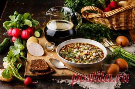 Окрошка. Рецепты приготовления окрошки с фото от Kulina.Ru.