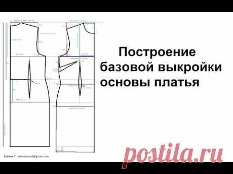 Построение базовой выкройки основы платья. Выкройка рукава