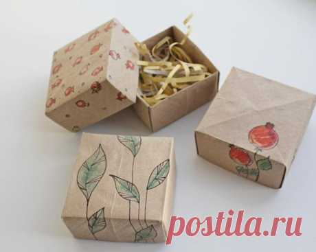 Коробочка-оригами за 5 минут