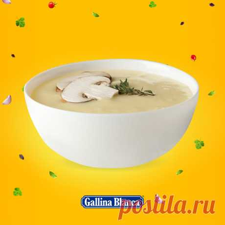 Ароматный грибной суп с цукини и картофелем!   Gallina Blanca   Яндекс Дзен