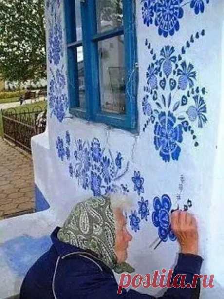 Добрая роспись бабушки Анны (Anežka Kašpárková]) из Моравии
